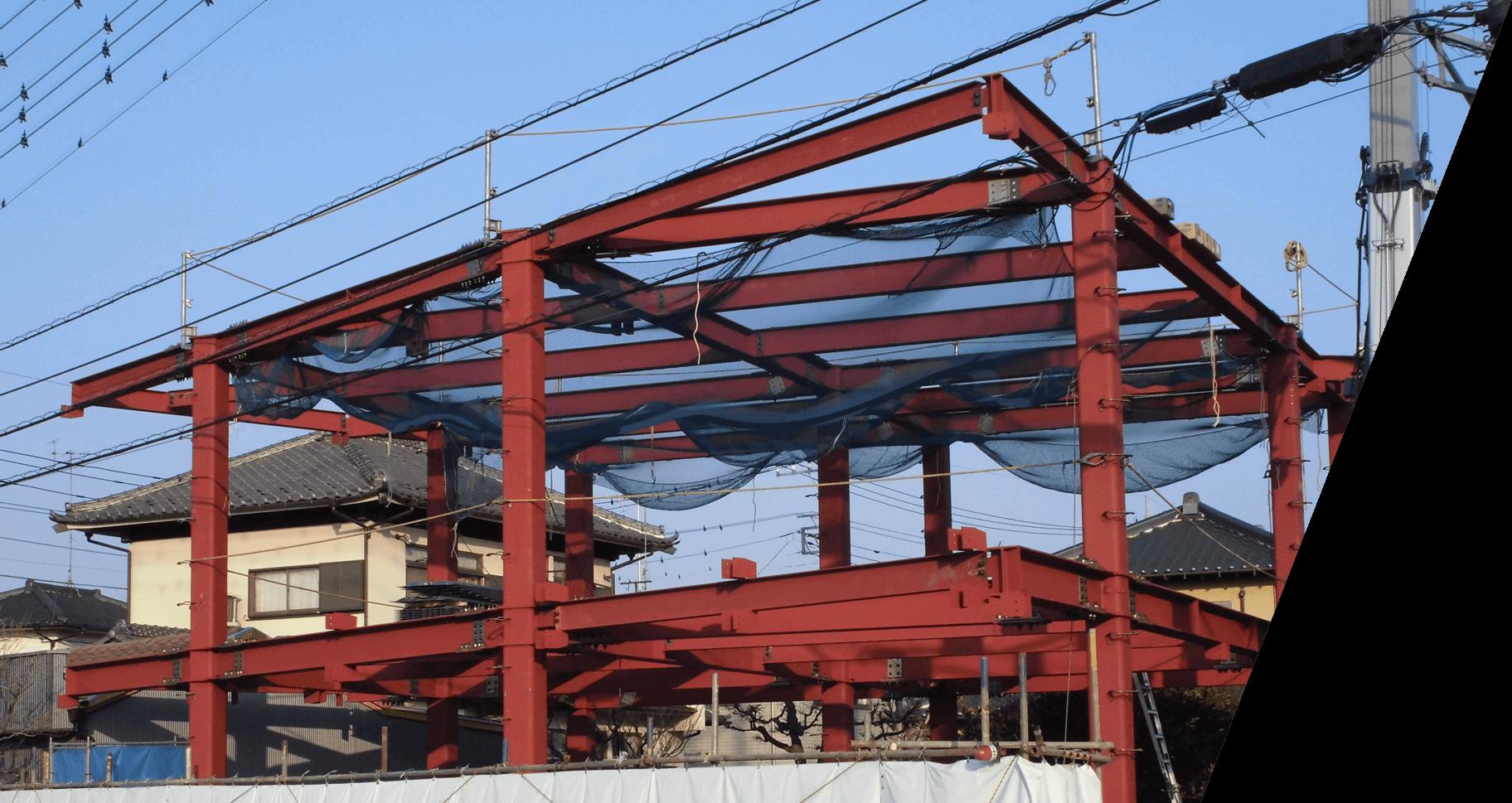 建築工事の背景